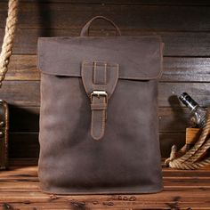 79.99$  Watch more here - http://aiz5h.worlditems.win/all/product.php?id=32699656005 - Bag for Women Men Crazy Horse Genuine Leather Backpacks Vintage School Bags for Girls Teenager 14 inch Cute Tote Bags L019