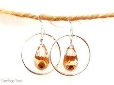 Simple Gold Dipped Earrings – Jewelry Week Tutorial » Flamingo Toes