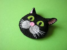 Hey, I found this really awesome Etsy listing at http://www.etsy.com/listing/177446316/felt-brooch-black-cat-muri-the-cat