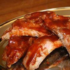 Oven Baked BBQ Ribs Allrecipes.com