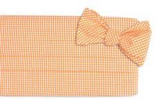 Soft Tangerine Seersucker Gingham Cummerbund Set by High Cotton