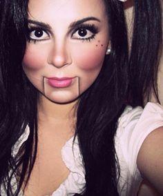 Maquillaje muñeca hallo den