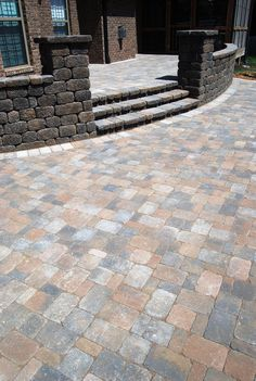 Concrete And Dublin Cobble Pavers Patio   Google Search