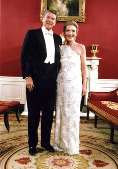 Nancy Reagan: A Change of Style    (posing here with her husband before leaving for the Inaugural Balls)   Style—in fashion, entertaining, decorating, and influence—was the subject of articles leading up to the 1981 inauguration. The press reported on Nancy Reagan's wardrobe, film career, skills as a hostess, and plans to redecorate the White House family quarters. As lavish white-tie inaugural celebrations were planned, articles speculated on a subsequent transformation to a more glamorous…