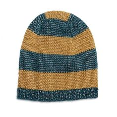 79b895153bc Gucci Knitted metallic striped beanie hat ( 275) ❤ liked on Polyvore  featuring accessories