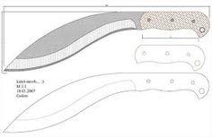 small kukri knife template - Google Search