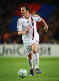 Zlatan Ibrahimovic of AC Milan