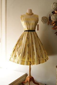 1950's Pisces Dress, made in Mexico.