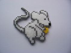 Mouse - Perler Beads (1 large square board or 4 small boards)