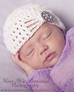 Ravelry: Crochet Fancy Baby Beanie Crochet Pattern PDF 240 pattern by Posh Patterns- would be pretty with flower