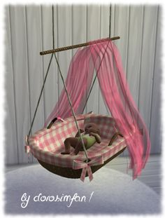 Lana CC Finds - Crib by dorosimfan1
