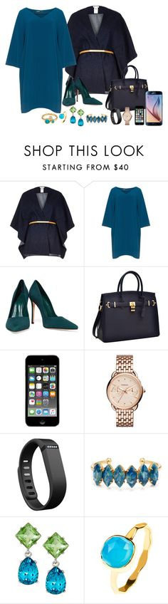 """""""Chic at Work"""" by theranna ❤ liked on Polyvore featuring River Island, Mat, Schutz, Samsung, FOSSIL, Fitbit, Elizabeth Cole, Kenneth Jay Lane, Latelita and Melinda Maria"""