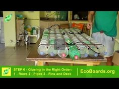 Stand Up Paddle Board - Eco Friendly Built with PET Bottles Cheap and Affordable by EcoBoards.org - YouTube
