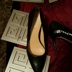 Cole Haan Bethany Pump Cole Haan snake skin like Pumps.  Heels arevsexy, strong & practical for work or play Cole Haan Shoes Heels