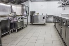 Commercial Kitchen with Large Space