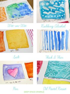 Watercolor techniques to try with your students exploring ideas