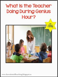 Genius Hour : A beginner's post on how to get started.