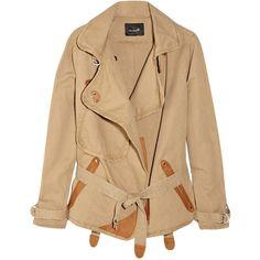Isabel Marant Jane cotton and linen-blend jacket ($325) found on Polyvore