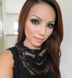 Promise Phan blue gray contacts <3 love this makeup look and the top she is wearing too...
