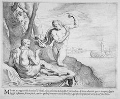 Athene appears before Odysseus  17th century etching  Theodor van Thulden (1606 - 1669)  Fine Arts Museums of San Francisco Homer Odyssey, Greek And Roman Mythology, Black And White Artwork, Museum Of Fine Arts, Art Google, Pretty Pictures, Comic Art, Art Reference, Fantasy Art