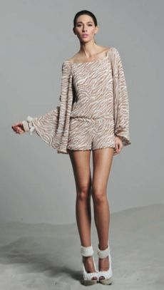 Jessie - A Fashion Boutique - Alexis Nora Pleated Bell Sleeve Romper - Desert Wave, $304.00 (http://www.jessieboutique.com/products/alexis-nora-pleated-bell-sleeve-romper-desert-wave.html)