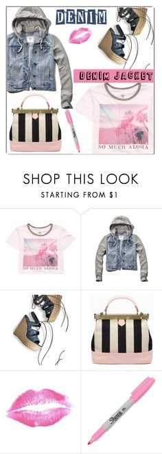 """Untitled #1449"" by kriz-nambikatt on Polyvore featuring Billabong, Abercrombie & Fitch, Stuart Weitzman, Tammy & Benjamin and Sharpie"