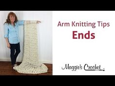 MAGGIE'S ARM KNITTING TIPS: Weave & Sew in Ends - Right Handed