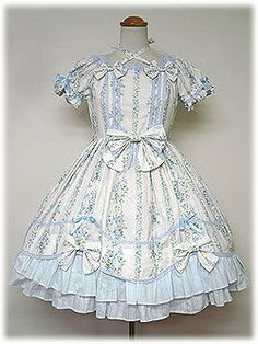 Angelic Pretty / One Piece / Floral Scalloped Square OP