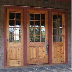Heart of Pine triple front door #HomeDecor For pricing, all sizes and species available Call @ 610-719-3252 Email: Terry@edmundterrence.com http://ow.ly/s2aZP