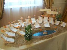 particolarissimo.....bellissimo..... Sea Theme, Nautical Theme, Tableau Marriage, Hawaiian Luau Party, Table Plans, Event Styling, Handmade Wedding, Wedding Table, Wedding Ideas