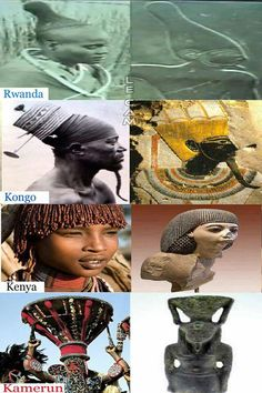 Similarities in Ancient Cultural headdresses and hair styles, coincidence?
