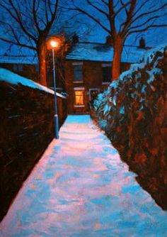 Art for sale by Chris Cyprus - Northern Lights No 16 Print Manchester Art, City Farm, British Artists, Winter Painting, Illustration Art, Illustrations, Winter Scenery, Northern Soul, Winter Pictures