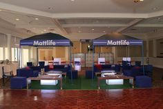 Metlife Stadium Football Tailgate Theme Bar Mitzvah Lounge by The Event of a Lifetime - mazelmoments.com