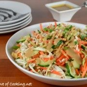 For the Love of Cooking » Thai Crunch Salad with Peanut Dressing