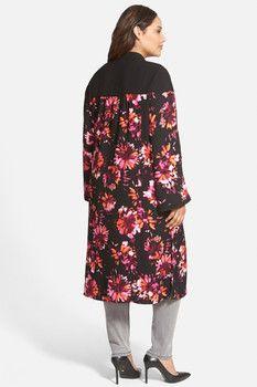 Sejour Floral Kimono Duster (Plus Size)