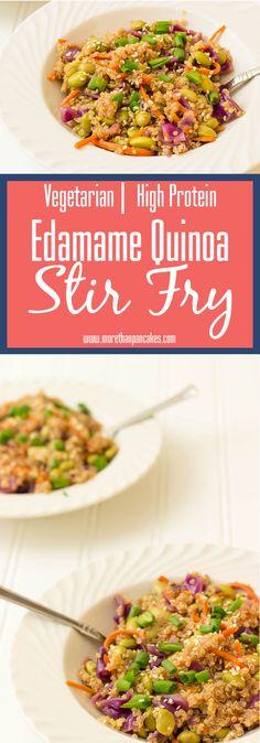 Vegetarian Edamame Quinoa Stir Fry