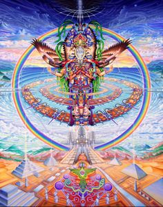"""""""Experience Teaches Wisdom, Theres a Natural Mystic Flowing Through The Air"""" -Bob Marly. Art By Carey Thompson"""