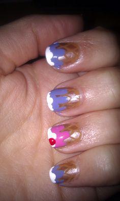 Ice cream nails Chloe Nails, La Nails, Ice Cream Nails, Best Nail Polish, Cool Nail Art, Hair And Nails, Nail Art Designs, Beauty, Eyes