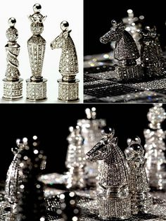 Diamond Skull, Diamond Gemstone, Royal Diamond, Glitter Make Up, Sparkles Glitter, Chess Set Unique, Chess Pieces, Diamond Are A Girls Best Friend, Creations