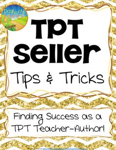 TpT Seller Tips and Tricks - Free Guide. Get started NOW as a Teachers Pay Teachers seller and maximize your earnings! Disclosure: This contains an affiliate link that allows me to collect a small commission if you choose to sign up through the link in the resource.