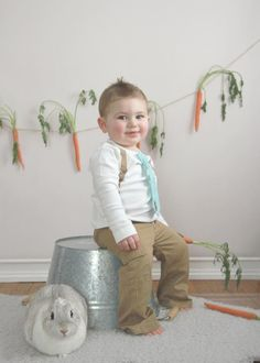 cute easter photo shoot idea for boys