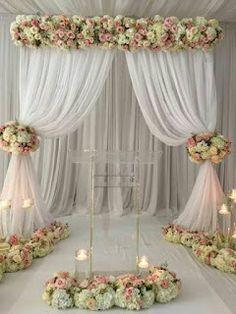 23 Ideas for diy wedding reception ideas ceremony backdrop Wedding Reception Backdrop, Wedding Stage, Ceremony Backdrop, Ceremony Decorations, Wedding Centerpieces, Wedding Backdrops, Wedding Sets, Reception Ideas, Diy Backdrop
