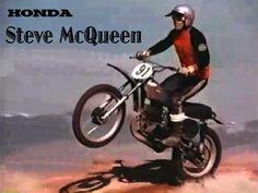 Steve McQueen riding a '73 Honda CR250M Elsinore