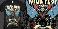 """RockFest 2013"" t-shirt design by LaFlamme"