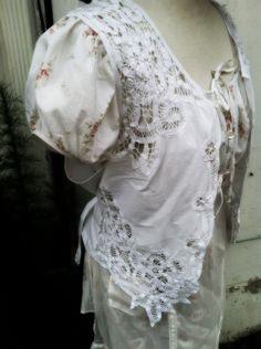 Delicate and Pristine Vintage White Vest. $13.00, via Etsy.