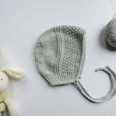 3090e26e730 Mint Organic Cotton Hand Knit Baby Bonnet Newborn Photo Prop by WoolySweet  on Etsy https