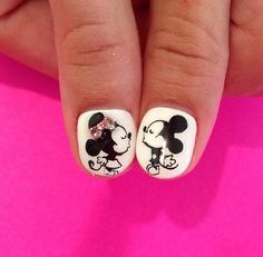 mickie and minnie mouse nail art