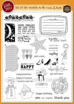 Unity Stamp Company January 2011 Kit of the Month