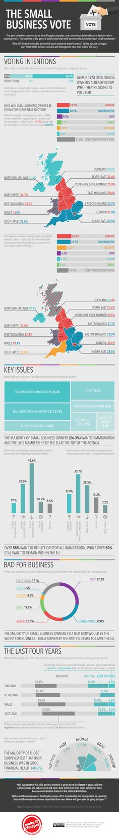 General Election 2015: The Small Business Vote #infographic #Election #SmallBusiness