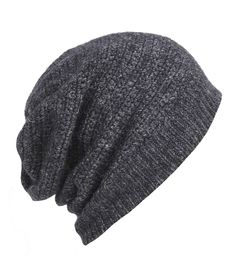 I want a hat like this...  chunky slouchy knitted beanie, wool & linen @ allsaints